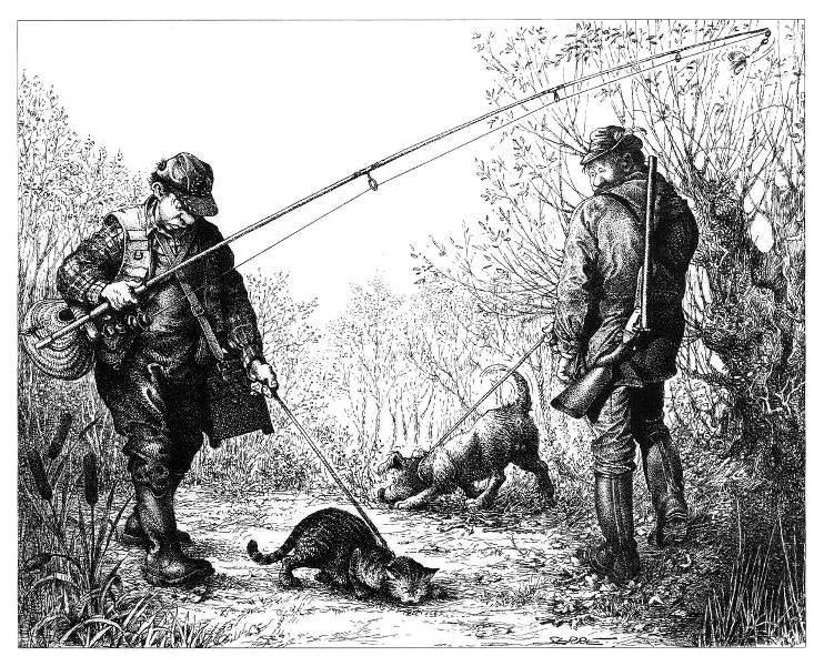 Рыбалка и охота картинки рисунки
