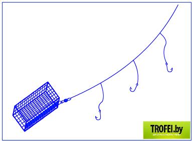 Фидерная оснастка своими руками с двумя крючками